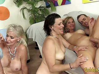 Lewd GILFs Are Ready To Group Sex Party With Hunged Daddies