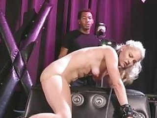 Shackled and besides chained chick in group orgy sex