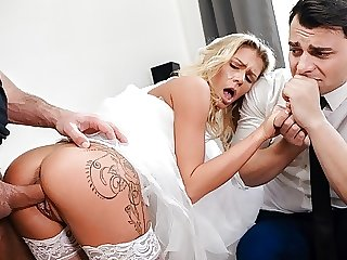 DEBT4k. Czech bride Claudia Macc fucked