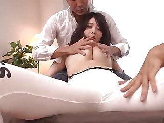 Strong threesome and raw orgasms for Rie Tachikawa