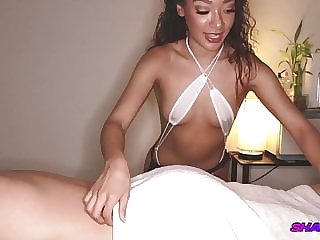 BIG Stud Gets Blowjob at Massage Parlor