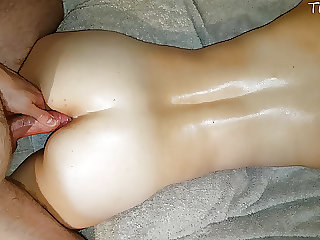 Massage turned into an assjob that made him cum quickly
