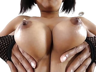 Nice Thai girl with big tits gets bareback creampie