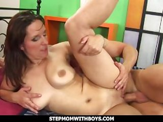 StepmomWithBoys - Hot Mama Having Sex With Mascular Stepson
