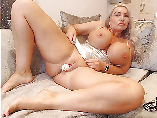 White Panties stuffed in my pussy