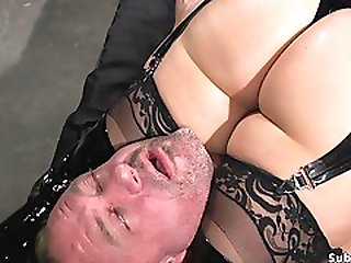 Mom Mistress In Latex Anal Hardcore Bangs Slave