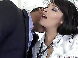 busty dominatrix asstoying her sub clip
