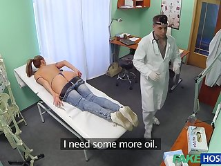 Doctor Prescribes An Erotic Massage For Sexy Blonde Patient