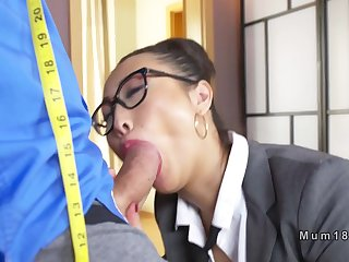 Big tits Asian taylor banging in office