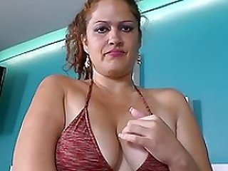 Latina Adult bbw milf Sandra needs to get off in bath