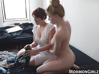 Teen mormon strapon bang