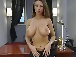 Busty babe, Danni Ashe, sucks and fucks cock for a living