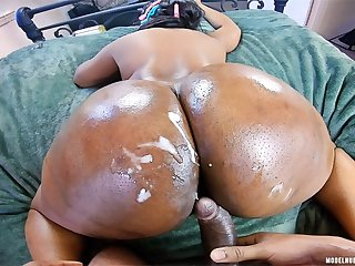 I Nutted On Her BIG BLACK ASS