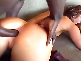 Sassy Cheerleader Takes Giant Black Shlong In Both Holes