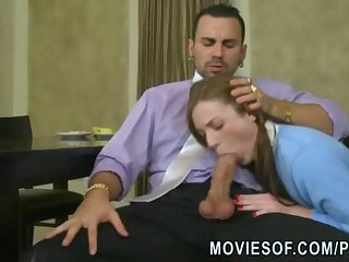 18yo college girl takes big cock up her shaved tight pussy