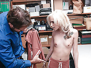 Blond Hair Babe Shoplifter Stripped And Pounded
