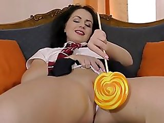 Smalltitted Teen Cockriding Lucky Old Man