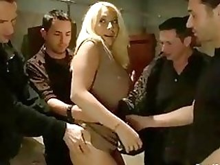 Candy Manson Big Tits DP Tied Anal Sex Gangbanged P1 (P2 on TeenPornMaster)