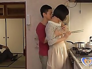 Chinese Cougar Cant Fight Back Him In Home Kitchen