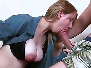 Naughty College Girl With Big Nipples Fucked On Stairs