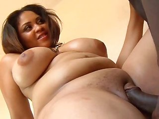Huge tits curvy girl fucked in the shower
