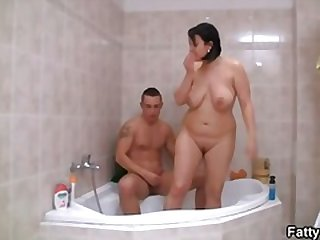 bbw, bathtub, hardcore