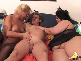 Threesome with a fat fat girl
