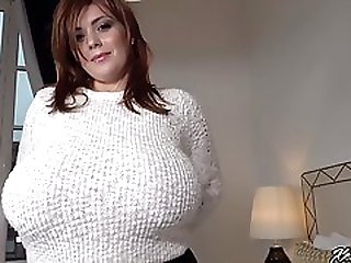 Xenia Wood - No Bra Pullover