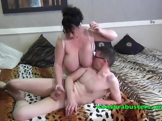 Granny Kim swallows some big meat