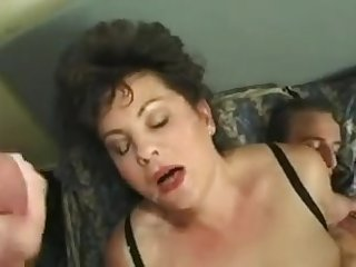 Chunky british milf gets facial during anal