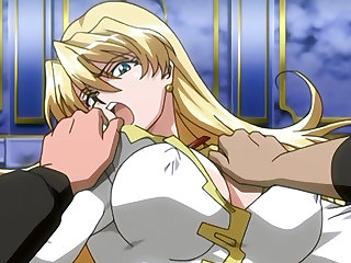 Hentai blondie gets brutally gangbanged