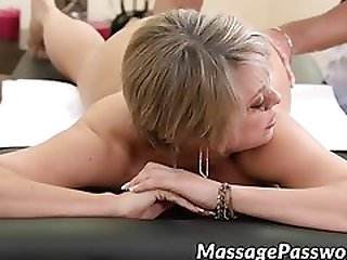 Busty Stepmom And Naughty Teen In Threesome With Masseur
