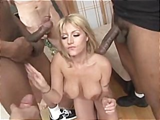 cumshot, interracial, cum, blowjob, jizz, black, gangbang, blonde, oral, lick, big tits, facial, ebony