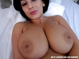 Sexy mature babe shows her magnificent big tits