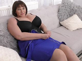 BBW is breathtaking in a sexy black corset
