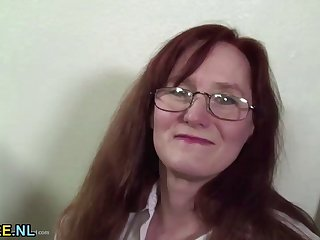 Redhead mature creampied by BBC