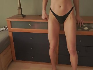 Amateur Teen in bikini wants casual home sex, gets creampied and jizzed on!