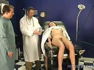 doctor takes care of young frigid girl