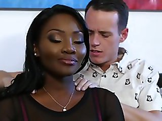 Shy Pale Dude Waits For Impassioned Sex With Posh Ebony Lady