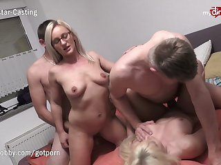 MyDirtyHobby - Hot German swingers swap their MILF wives