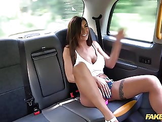 Fake Taxi Sexy Brunette Princess Jas and her big tits fucked