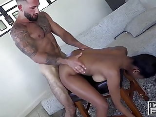 Hairy JACKED Italian Jersey Shore Meathead FUCKS Interracial