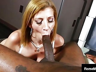 Cum Slurping Milf Sara Jay Downs Big Black Cock Rome Major!