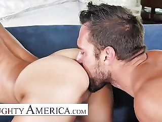 Naughty America - Horny man fucks his married neighbor!
