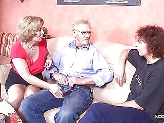 GRANDPA FUCK TWO GERMAN OLD WOMAN IN THREESOME TABOO