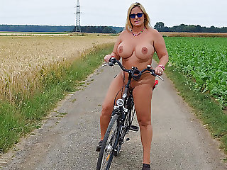 Riding the bike naked