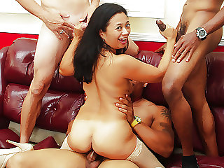 Team Fucks Girl - Asian MILF Lucky Starr IR Gangbang
