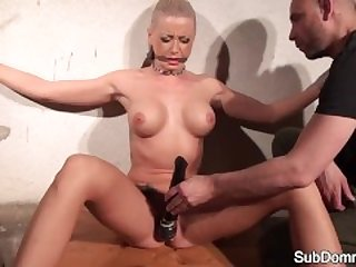 Dominated euro groped by maledom