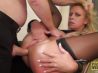 PASCALSSUBSLUTS - Tied Up MILF Sasha Steele Dominated
