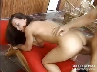 Hot Brunette trying her first Anal Sex